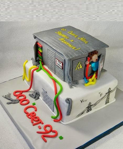 Торт для электрика своими руками 99