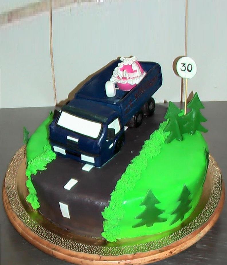 торт для водителя картинки представляла собой узкое