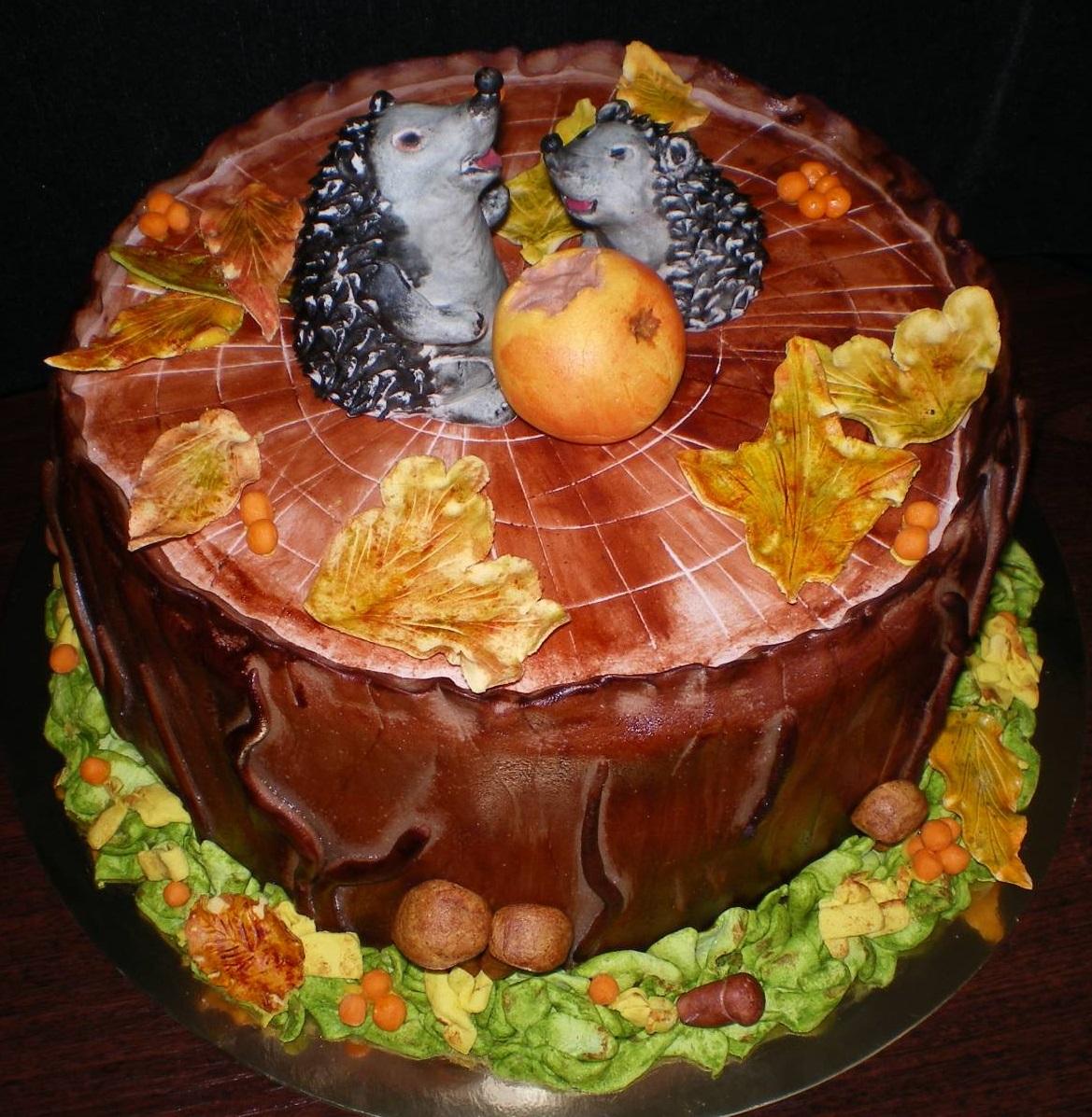 леса, осенний торт фото запомнилась