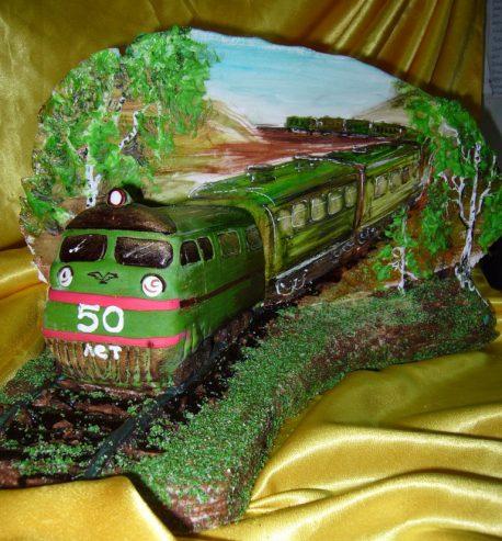 торт фото поезд