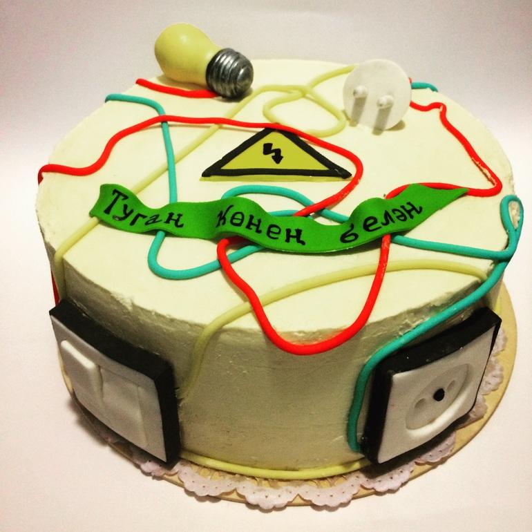 Поздравление, открытка с днем рождения для электрика