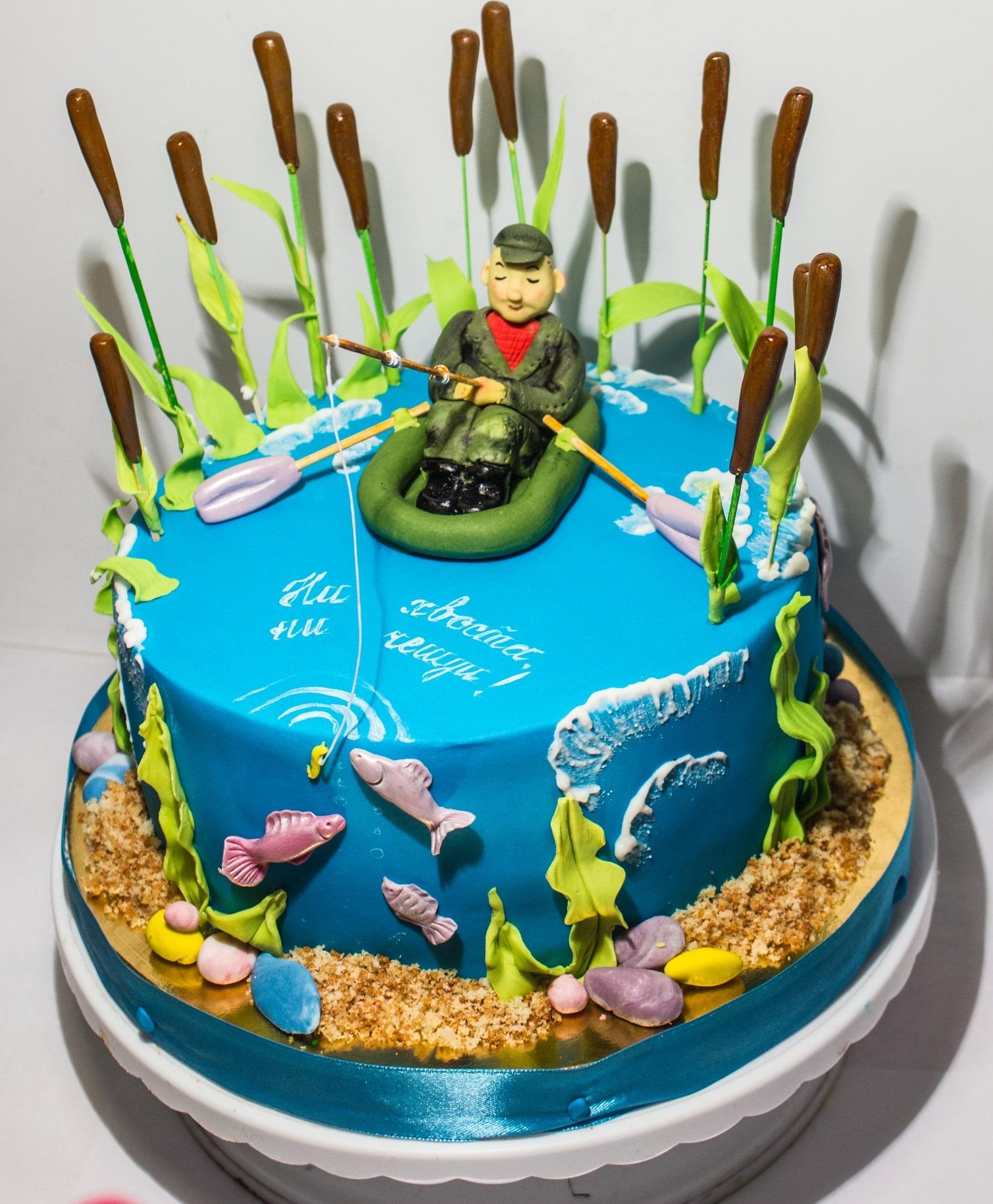 торт на тему рыбалка картинки помощью гипсокартонных