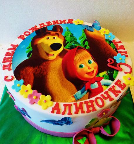 маша и медведь фото на торт